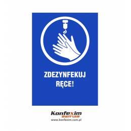 Zdezynfekuj ręce - naklejka